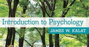 Introduction to Psychology James Kalat 10th Edition pdf.