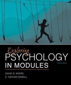 Exploring Psychology in Modules 10th edition pdf