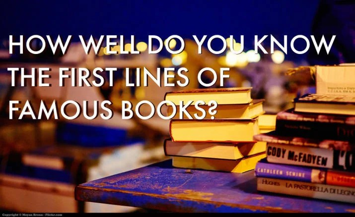 The Bookish Elf Quiz: Guess Book Title from the first lines.