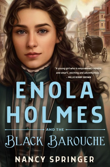 Book Cover for Enola Holmes and the Black Barouche