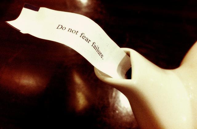 don't be afraid to failure