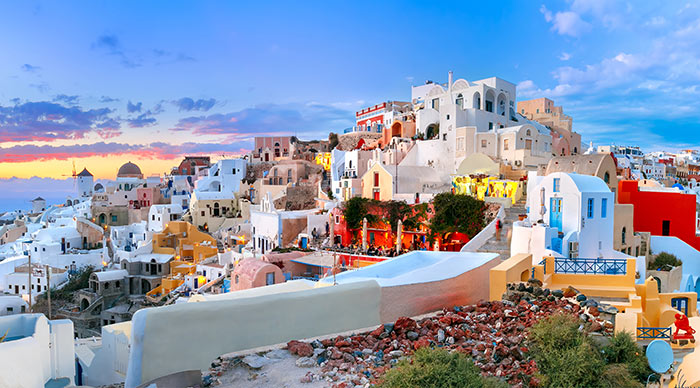 Picturesque Old Town of Oia