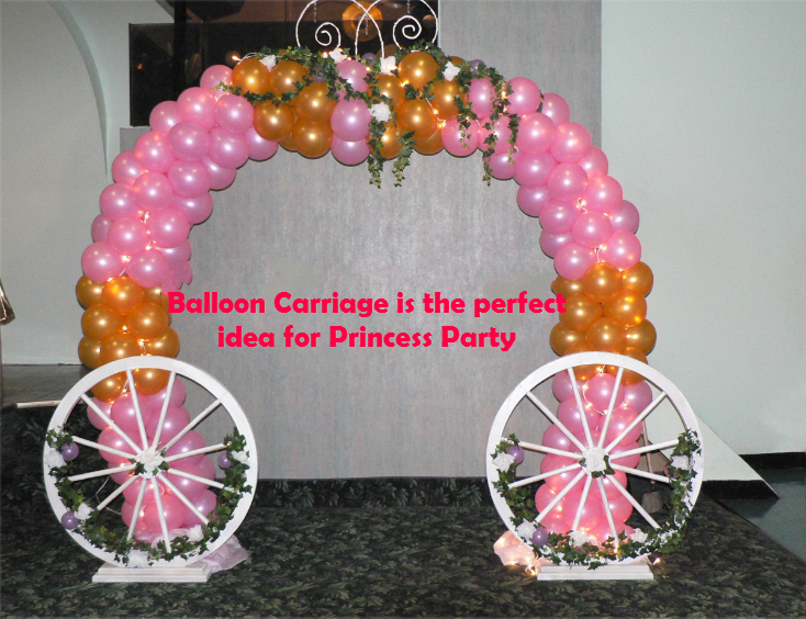 Balloon Carriage is the perfect idea for Princess Party