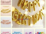 Happy Birthday Foil Letter