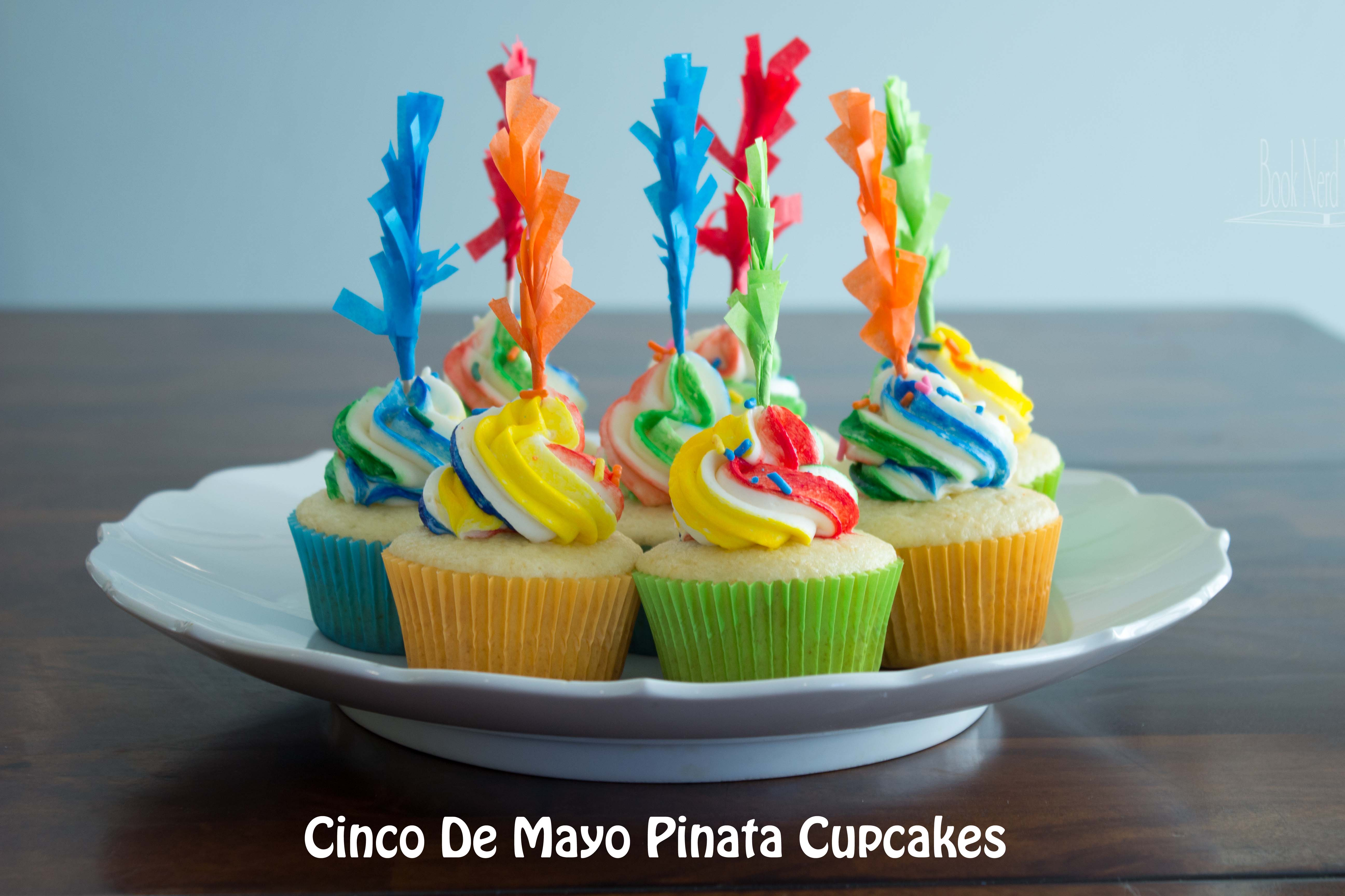 Cinco De Mayo Piñata Cupcakes Book Nerd Mommy