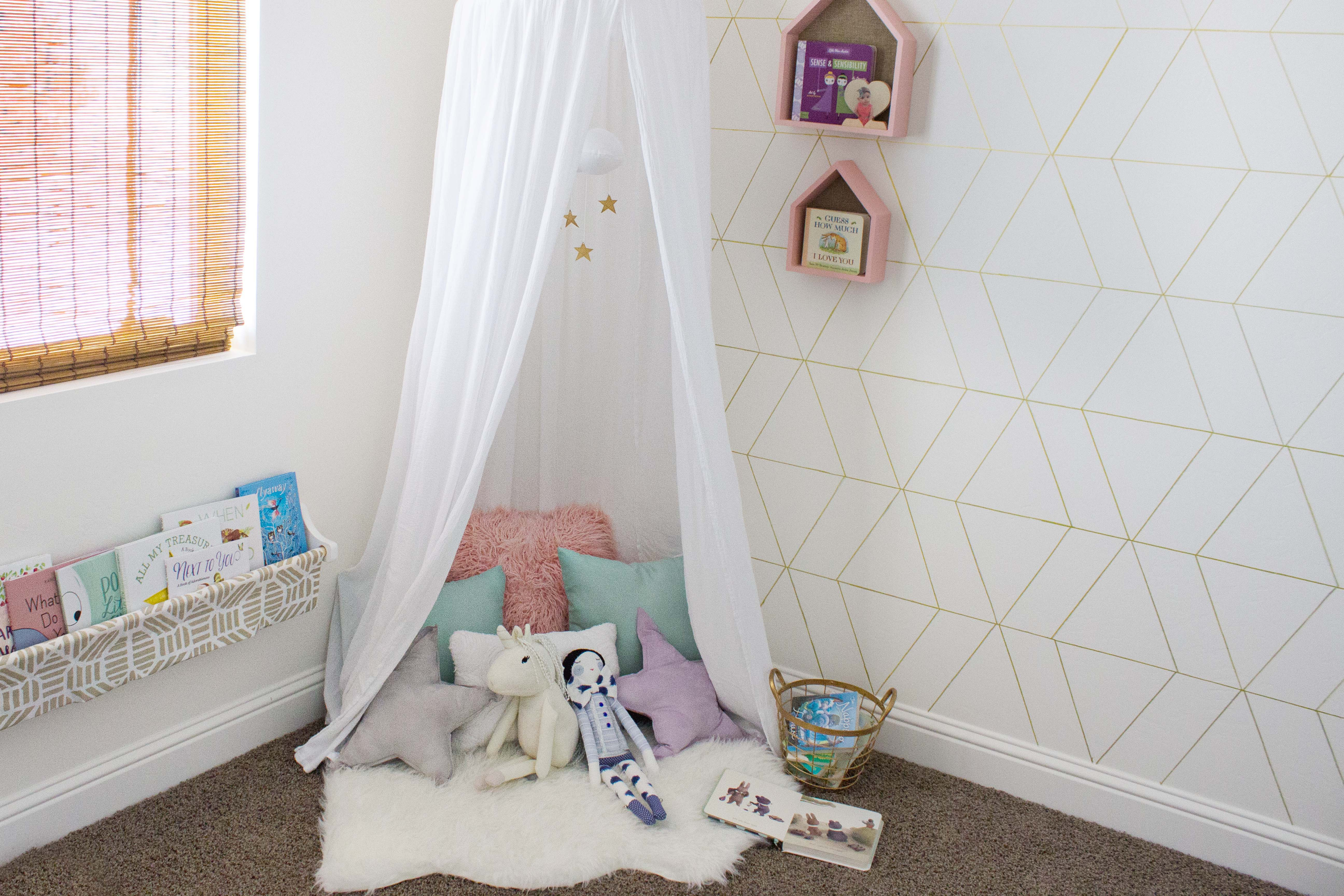 Later on I hope it will become a nook where she will look forward to spending saturday afternoons really delving into books just as I did as child. & Canopy Book Nook Reveal · Book Nerd Mommy