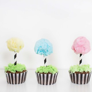Dr. Seuss inspired Truffula Tree Cupcakes