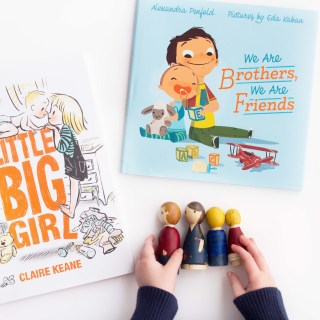 Sibling Books and DIY Peg Doll Kit