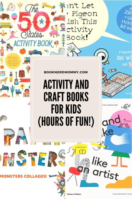 This list of activity and craft books is awesome! Sure to provide hours of educational entertainment for kids!