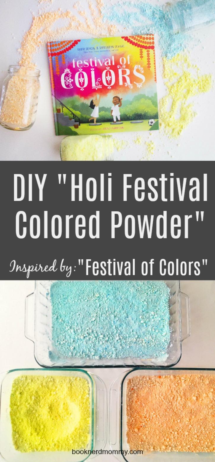 Diy Holi Festival Colored Powder Book Nerd Mommy