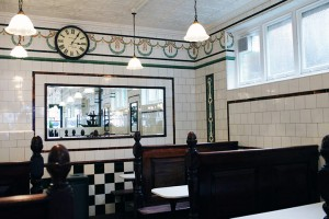 Interior of L Manze's Walthamstow