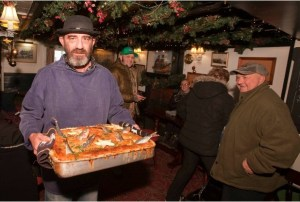"Jonathan Madron is ""Tom Bawcock"" the legendary fishermen that brought fish to the starving in Mousehole in the form of Starry Gazey Pie at The Ship Inn. Picture Phil Monckton."