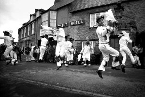 Bampton dancers on Whit Monday 1979 Photo © Bill Smith 28th May 1979