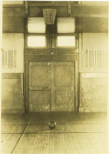 The original 1891 Basket Ball court in Springfield College