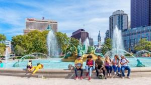 Swan Memorial Fountain Logan Square Philadelphia