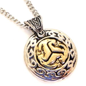Pewter Gold Plated Trefot Viking Norse