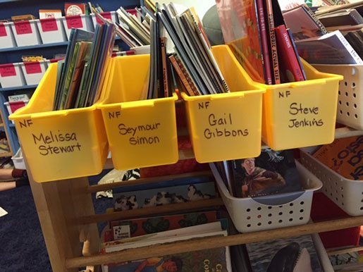 Establishing a STEM bookshelf in your classroom is one way to promote reading these books as a special experience.