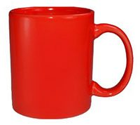 red mug of coffee