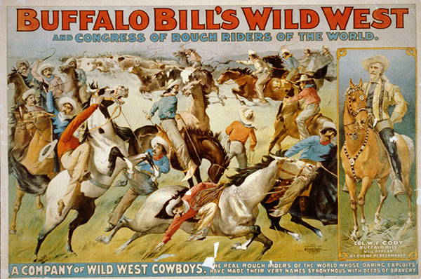 Buffalo Bill's Wild West show poster