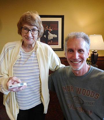 Miss Rosemary Follett and David LaRochelle