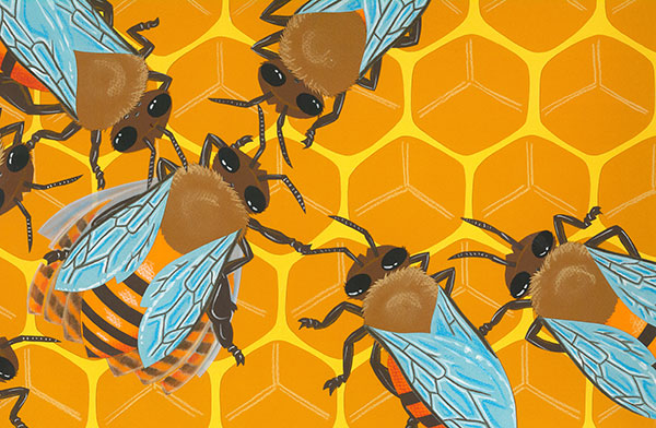 Bee Dance illustration by Rick Chrustowski
