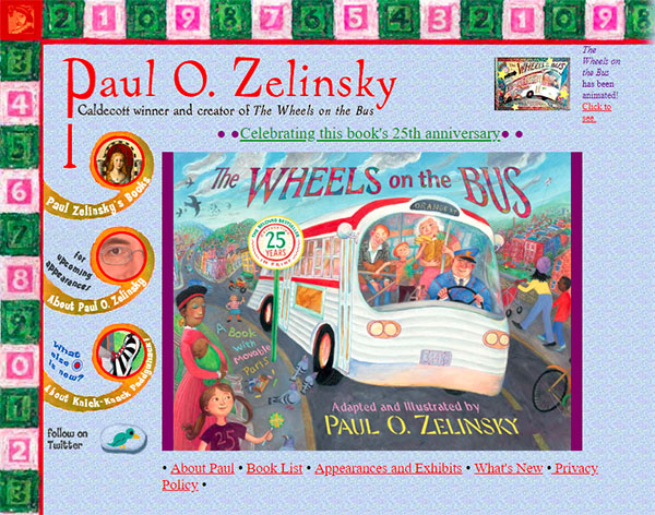 Paul O. Zelinsky's website