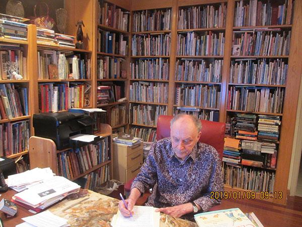 Lee Bennett Hopkins' office