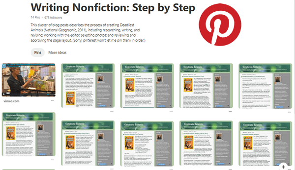 Writing Nonfiction Step by Step Pinterest board