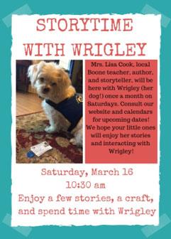 Storytime with Wrigley