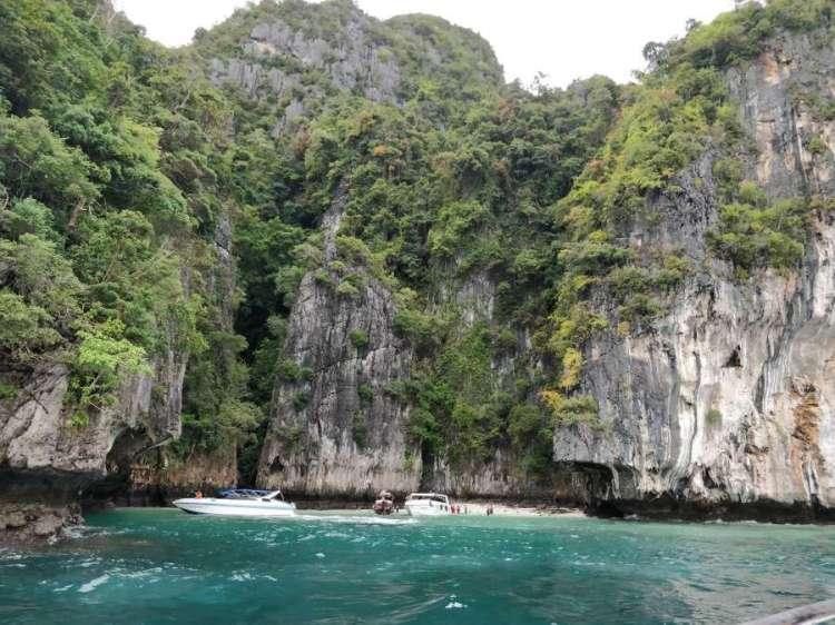 view of the monkey island, phi phi island tour, phuket