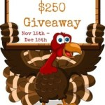 Thankful for Cash Giveaway – win $250
