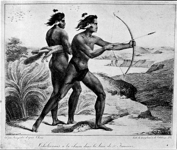 Indians of the Tcholovoni Tribe Hunting on the Shores of the Bay of San Francisco (1816)