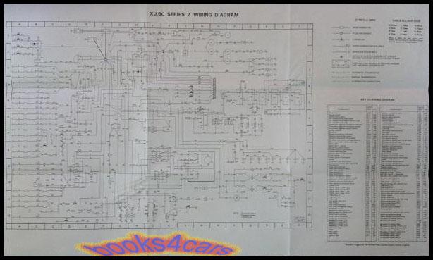 jaguar xj6c electrical wiring diagram wall chart manual  ebay