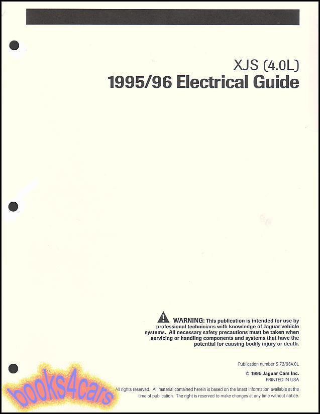 95 96 jaguar xjs shop manual electrical guide wiring