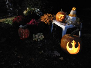 jack-o-lantern and Halloween flash fiction