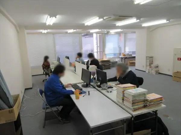 ヤフオク部門の配置換え|業務風景