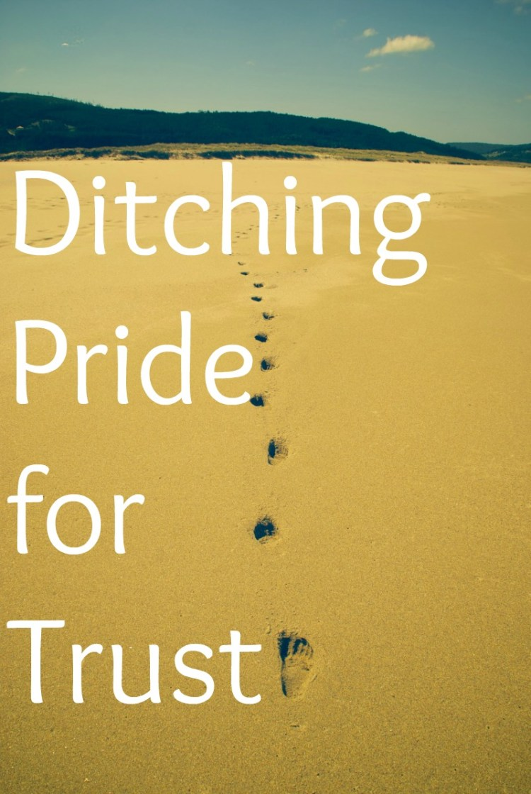 Ditching Pride for Trust. Trusting in ourselves denies the very real need for trust in God.