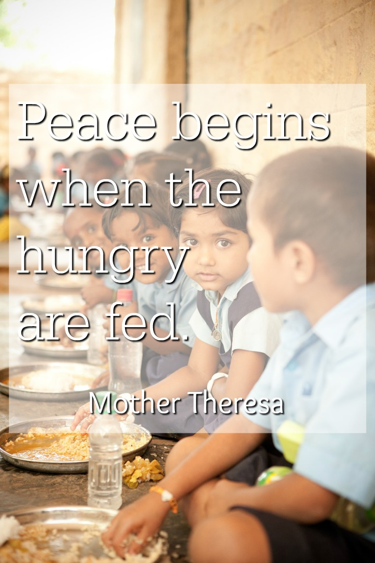 Feed the hungry with Mary's Meals. Mercy Monday #2 on Books Faith Life.