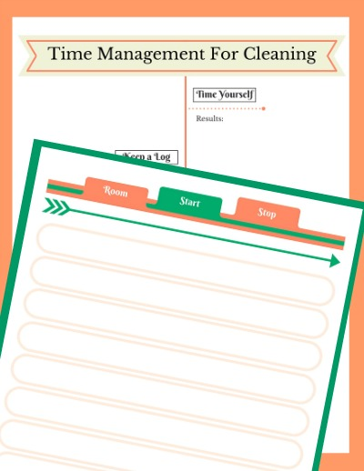Printables to track your time management in cleaning. Results Log & Timesheet