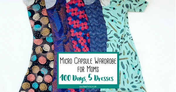 An honest look at a modest, affordable, micro capsule wardrobe for mom life. 7 things I gained from wearing the same 5 dresses for 100 days.