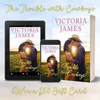 TwC New Release Prize Compressed The Trouble with Cowboys by Victoria James   Review and Giveaway