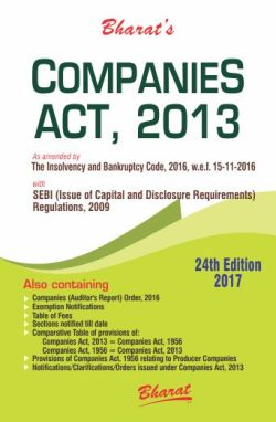 COMPANIES ACT, 2013 with SEBI (Issue of Capital and Disclosure Requirements) Regulations, (Pocket/HB) 2017
