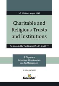 CHARITABLE AND RELIGIOUS TRUSTS AND INSTITUTIONS