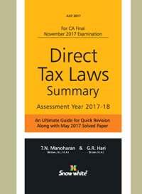DIRECT TAX LAWS SUMMARY ( A. Y. 2017-18)