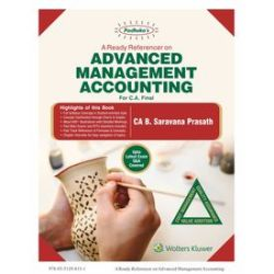 Padhuka A Ready Referencer on Advanced Management Accounting (CA Final)