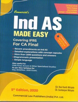 Ind AS Made Easy Covering IFRS For CA Final