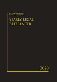 SNOW WHITE YEARLY LEGAL REFERENCER 2020( SMALL)