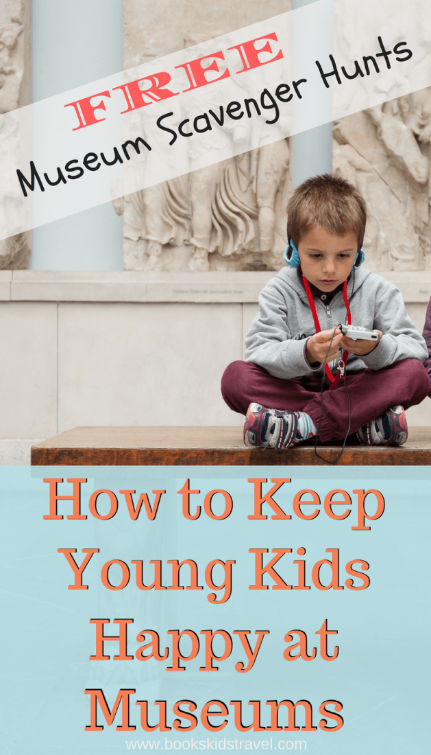 5 Ways to Keep Young Kids Happy at Museums, including free printable scavenger hunts!