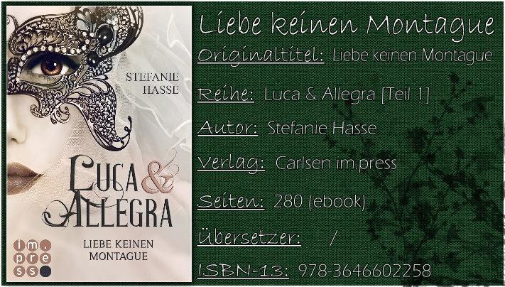 Luca & Allegra - Liebe keinen Montague von Stefanie Hasse