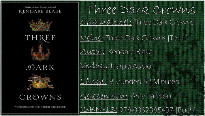 Three Dark Crowns von Kendare Blake